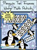 Winter Activities: Penguin Ten Frames Winter Math Activity - Color
