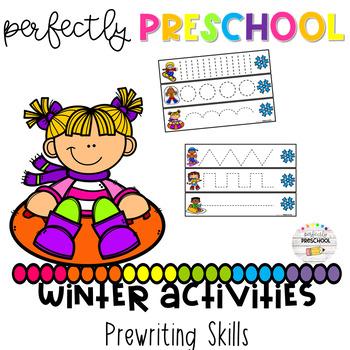 Winter Activities Prewriting Skills