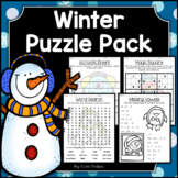 Winter Activities - Math & Literacy Puzzles | Early Finishers