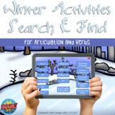 Winter Activities Search and Find Articulation and Verbs f