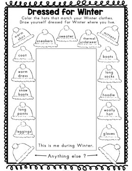 Winter Activities Second Grade (Literacy & Math)