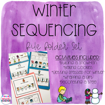 Winter Activities Sequencing File Folders