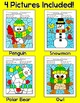 Winter Activities Color by Sight Words: Penguin, Snowman, Polar Bear, Owl
