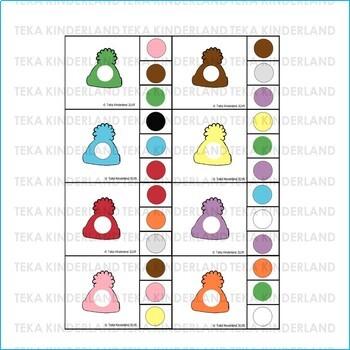 Snowman Hats Matching Clip Cards | TeKa Kinderland