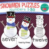 Winter Number Sense Puzzle