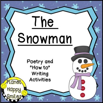 "Christmas Activity ~ The Snowman: Poetry and ""How-to"" Writing"
