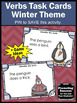 Verbs Task Cards Winter Activities & Games (Penguins & Polar Bears)