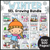 Winter Activities Social Emotional Learning GROWING BUNDLE Primary Counseling
