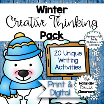 Winter Activities Pack: 20 Creative Winter Activities- Printable & FILLABLE PDF