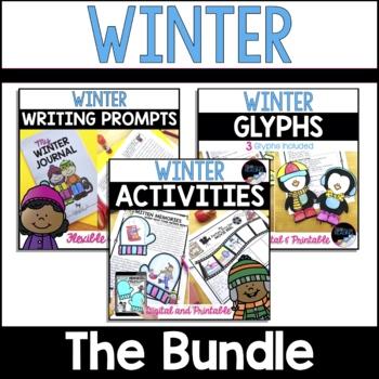 Winter Activities, Winter Glyphs, Winter Writing Prompts/Winter Journal - Bundle