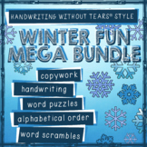 Winter Activities - Winter Handwriting Without Tears Practice Christmas Hanukkah