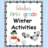 1st Grade Winter Activities {Literacy and Math}