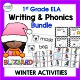 Winter Activities for 1st Grade WRITING & PHONICS BUNDLE
