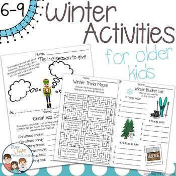 Winter Activities For Older Kids No Prep