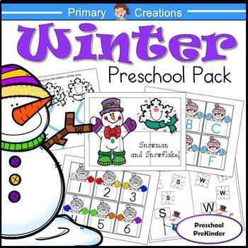 Winter Activities for Preschool and PreK BUNDLE