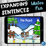 No Print Speech Therapy Winter Scenes for Expanding Sentences