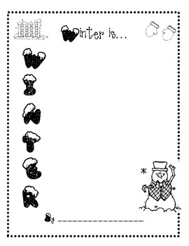 Winter Activities-snowman glyph and winter poetry