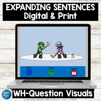 Winter Activities for Pronouns, Verbs, & Basic Concepts,  No Print - Teletherapy
