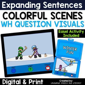 No Print, Winter Pronouns, Verbs, WH Questions, & Basic Concepts