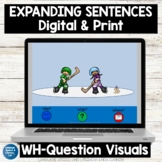 WH Questions Speech Therapy Easel Activity   Photo Scenes