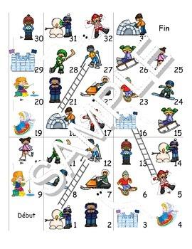 Winter Fun Activities/Activités d'hiver FRENCH Workbook,Games&SmartNotebook Pack