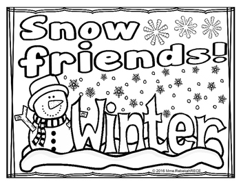 Winter Activity (4 pages) English