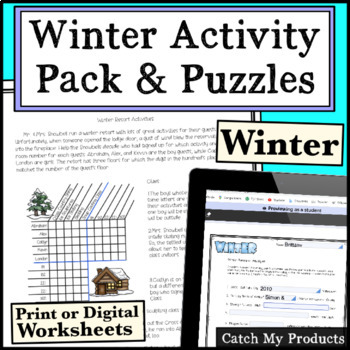 Winter Activity BUNDLE for Gifted and Talented Learners