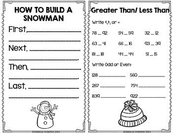 Winter Activity Book Freebie