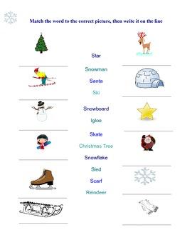 Winter Activity Bundle - ESL