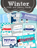 Winter Activity Bundle - Preschool Math and Literacy