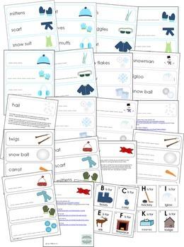 Winter Activity Bundle - Preschool Math and Literacy