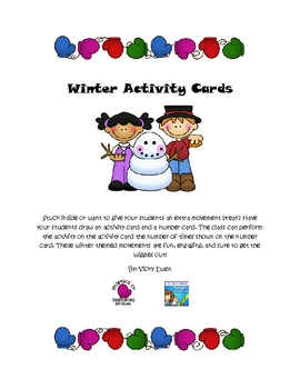 Winter Activity Cards
