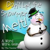 Winter Activity:  Don't Let the Snowman Melt!