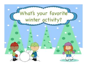 Winter Activity Opinion Writing