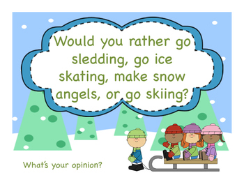 Winter Activity Opinion Writing