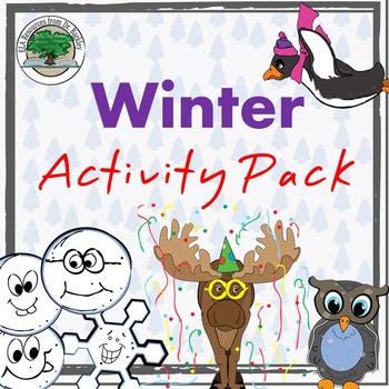 Winter Activity Pack NO PREP Good Sub Lesson