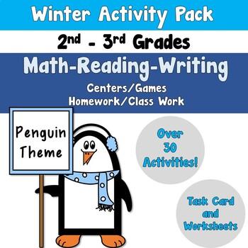 Winter Activity Pack using Reading Writing Math