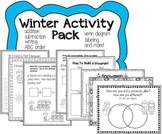Winter Activity Pack- writing, math, literacy