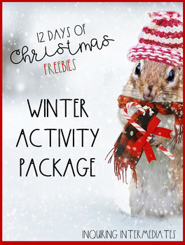 Winter Activity Package (10 pages) -12 Days of Christmas Freebies - Day 7