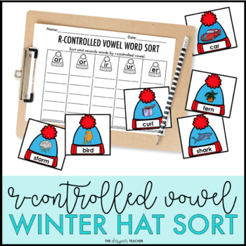 Winter Activity R Controlled Vowel Word Sort Center {Hat Theme}
