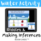 Winter Christmas Activity Riddles and Making Inferences - BOOM CARDS
