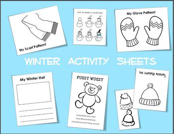 Winter Activity Sheets