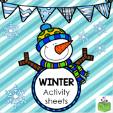 Winter Activity Sheets