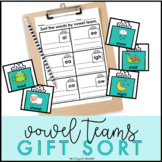 Winter Activity Vowel Team Word Sort Center {Holiday Gift Theme}