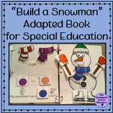 Winter Adapted Book Build a Snowman for Autism and Special Education
