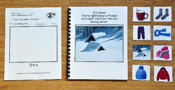 "Winter Adapted Book:  ""I See In the Winter"" (w/Real Photos)"