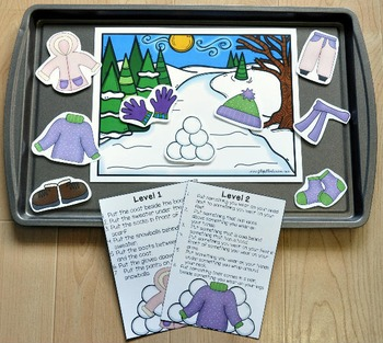 Winter Adapted Book and Vocabulary Activities