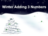 Winter Adding 3 Numbers Pack