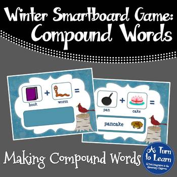 Winter Making Compound Words Game (Smartboard/Promethean Board)