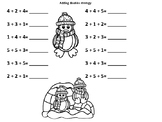 Winter Adding Doubles and Fact Families